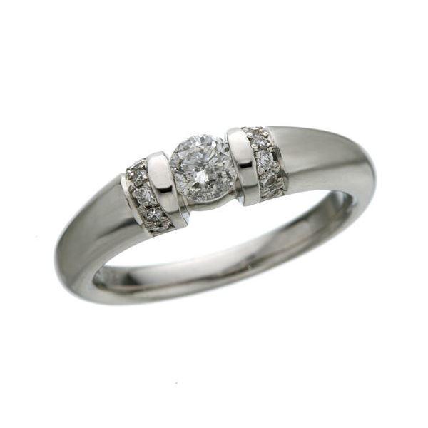 プラチナPt900 0.28ctダイヤリング 指輪 15号