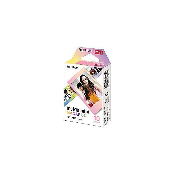 【在庫目安:お取り寄せ】 富士フイルム INSTAX MINI MACARON WW 1 チェキ用カラーフィルム instax mini 絵柄(マカロン) 10枚入