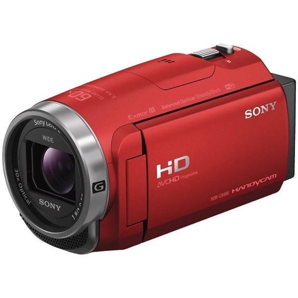 【在庫目安:僅少】SONY  HDR-CX680/R デジタルHDビデオカメラレコーダー Handycam CX680 レッド