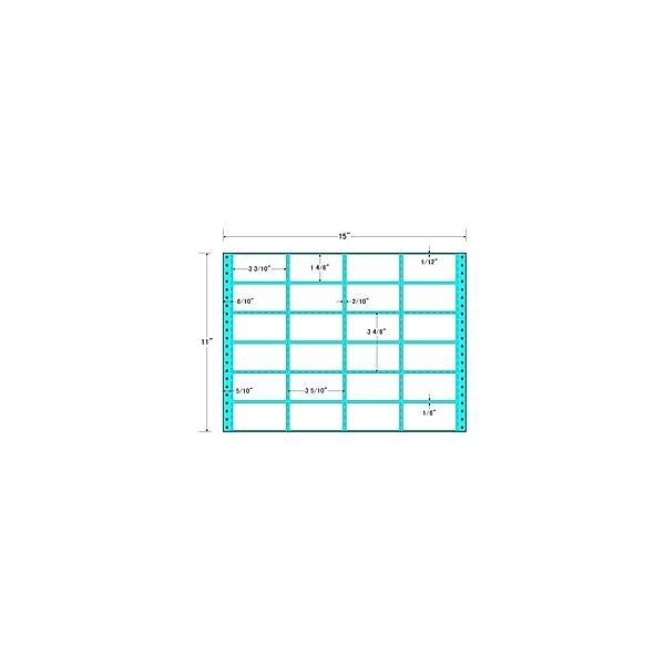 【在庫目安:お取り寄せ】 東洋印刷 MH15W タックフォームラベル 15インチ×11インチ 24面付(1ケース500折)