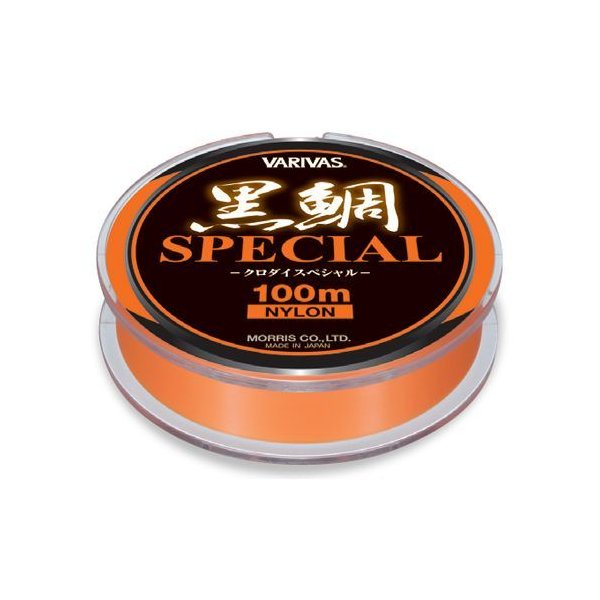 モーリス バリバス 黒鯛スペシャル 100m 3号 フラッシュオレンジ【ゆうパケット】