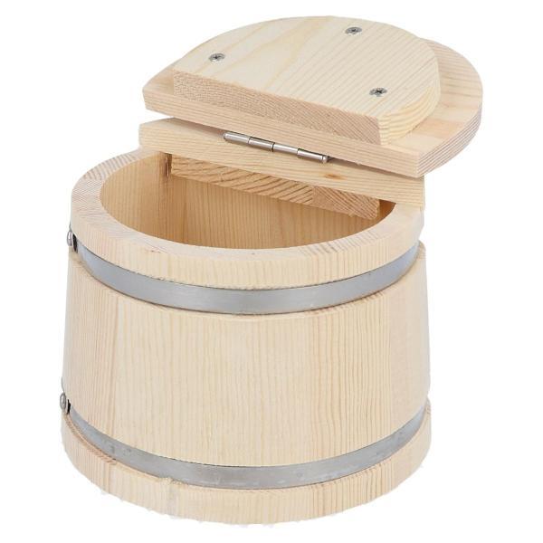 【6/1-4エントリーでP最大32倍!】マルシン漁具(DRAGON) 木製エサ箱 半月 S