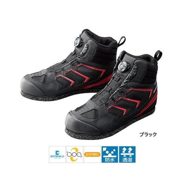 シマノ ドライシールド・3Dカットピンフェルトシューズ(ハイカット) FS−085P 25.0cm ブラック