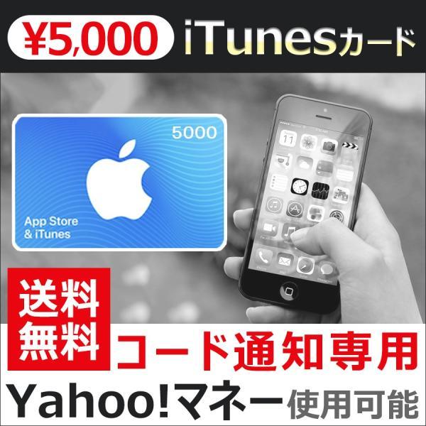 iTunesカード 5000 Apple プリペイドカード コード 通知 ヤフーマネー使用可|point-use