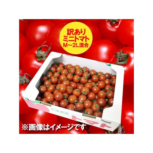 訳あり 送料無料 ミニトマト 北海道 ミニトマト M〜2Lサイズ 2kg(2キロ) 価格 2980円 トマト/とまと 無撰別