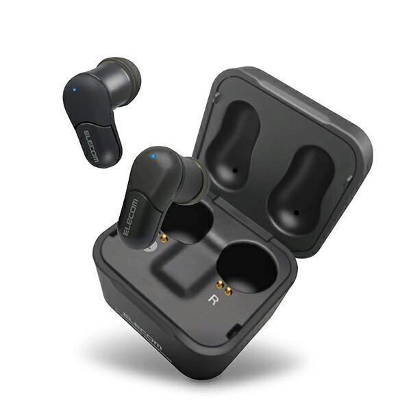 エレコム Bluetooth イヤホン ブルートゥース 完全ワイヤレス 6.0mmドライバー オートペアリング 4g軽量設計 ブラック LBT-TWS02BK ELECOM pointshoukadou