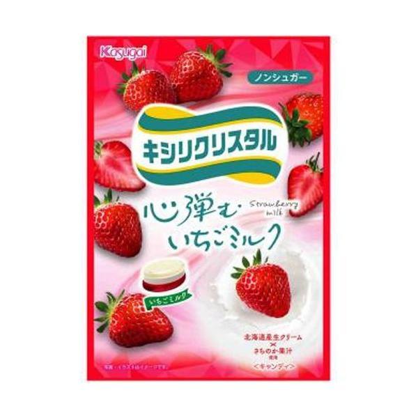 春日井製菓 キシリクリスタル いちごミルク67g×6入