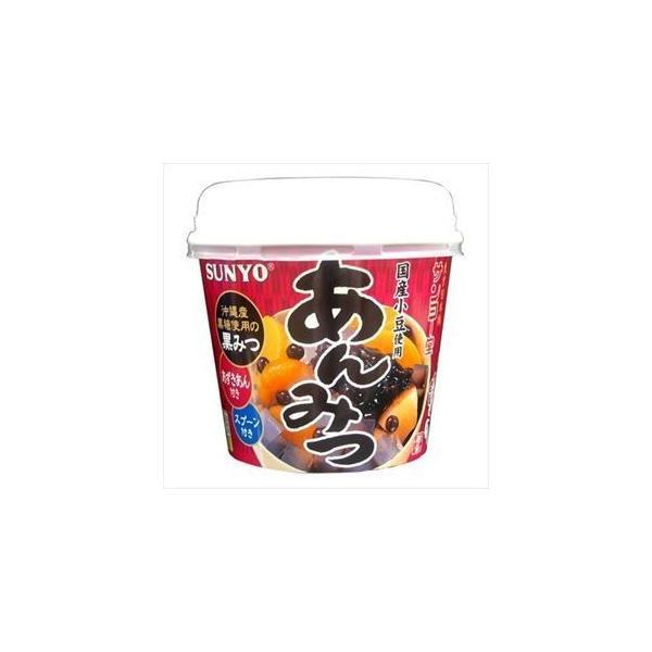 サンヨー堂 カップあんみつ豆(黒みつ) 260g×6入