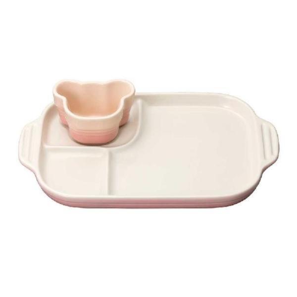 ル・クルーゼ(Le Creuset) ベビー・マルチプレート&ラムカン 子供用 食器セット ミルキーピンク 9103490017607J|pokkey