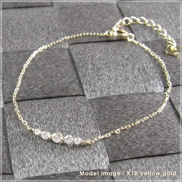 ブレスレット レディース 18金 ゴールド ダイヤモンド 「ダリオ」