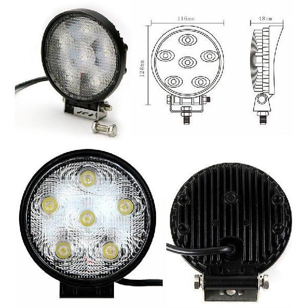 LEDワークライト 軽トラ トラック 荷台灯 12V 24V対応 防水 防雨 LED作業灯 サーチライト 18W 6連 ランプ 6000K 白 丸型 汎用 A51A pond 02