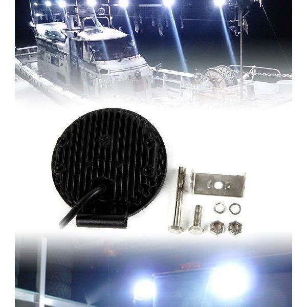 LEDワークライト 軽トラ トラック 荷台灯 12V 24V対応 防水 防雨 LED作業灯 サーチライト 18W 6連 ランプ 6000K 白 丸型 汎用 A51A pond 03