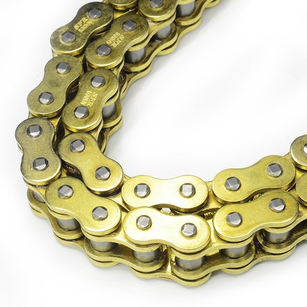 バイク チェーン 428-150L O-RING ゴールド 金 シールチェーン ドライブチェーン クリップ 交換用 A59GOAE|pond|02