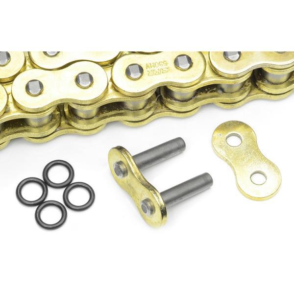 バイク チェーン 428-150L O-RING ゴールド 金 シールチェーン ドライブチェーン クリップ 交換用 A59GOAE|pond|05