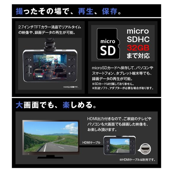 ドライブレコーダー ドラレコ フルHD 1080P 常時録画 防犯カメラ カーカメラ 最新 動体感知 エンジン連動 エンドレス録画|pond|05