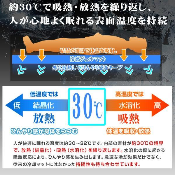 冷感ジェルマット 90×140 敷きパッド 冷却マット ジェルパッド ひんやり クール 寝具 涼しい 寝心地|pond|06