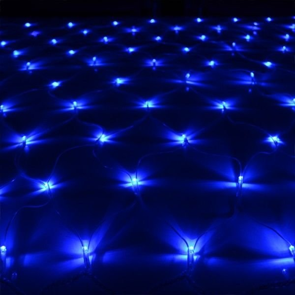 イルミネーションライト LED ネット 160球 ライト クリスマスツリー ハロウィン お祭り 電飾 1Mx2M 青 ブルー 延長用 IRMNB160|pond|02