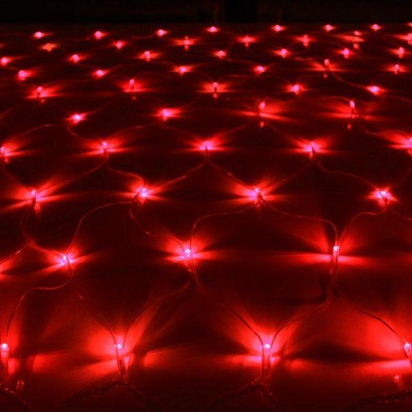 イルミネーションライト LED ネット 160球 ライト クリスマスツリー ハロウィン お祭り 電飾 1Mx2M 赤 レッド コントローラー付 IRMNR160IRMSNC10|pond|02