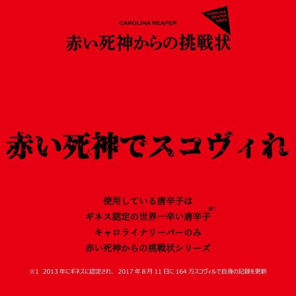 赤い死神からの挑戦状 ICHIMI 14g キャロライナリーパー一味唐辛子 激辛 18禁 罰ゲーム ponte 02