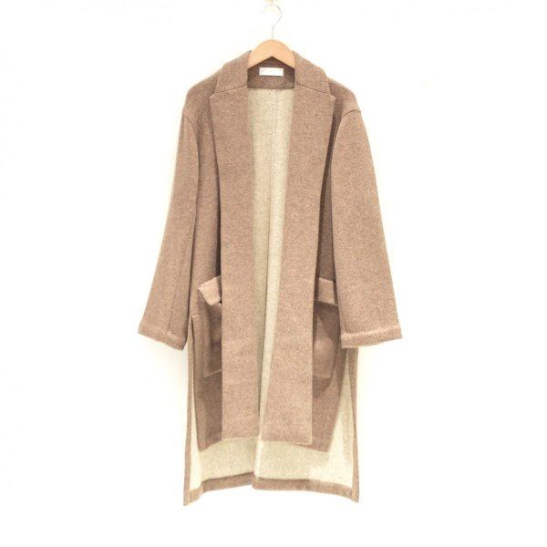THEE(シー) / w-face knit gown coat (BROWN)|pop5151