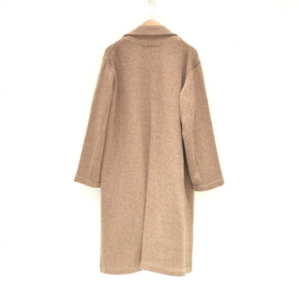 THEE(シー) / w-face knit gown coat (BROWN)|pop5151|02