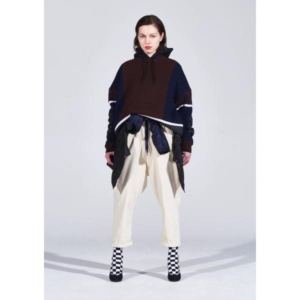 elephant TRIBAL fabrics / Mix Big Knit(NAVY)|pop5151|02