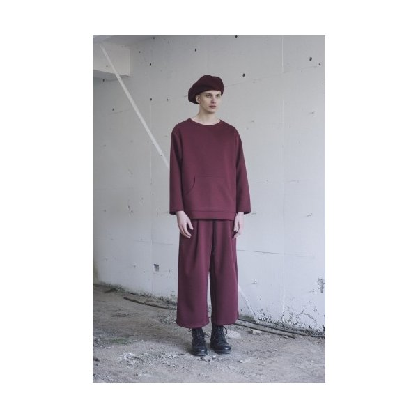 Prasthana(プラスターナ) / bonding heavy jersey tuck pants|pop5151|06