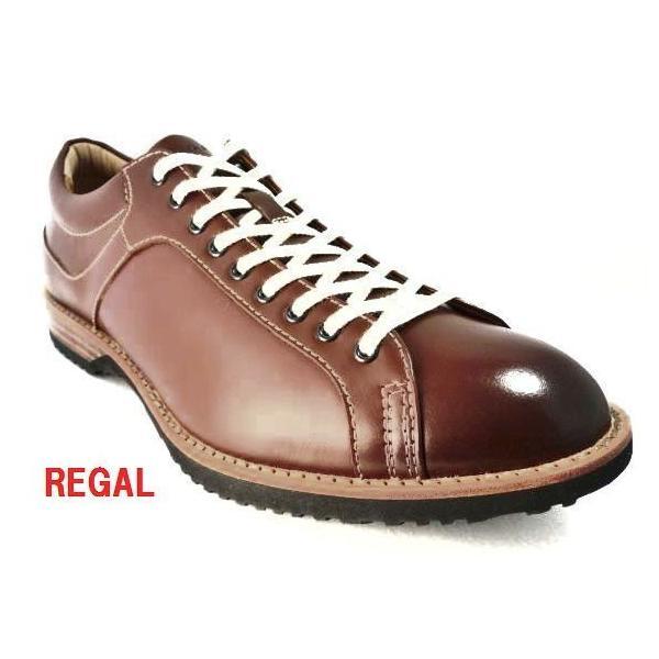 リーガル REGAL 靴 メンズ カジュアル レースアップシューズ 57RR レザースニーカー ブラウン