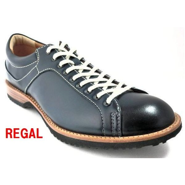 リーガル REGAL 靴 メンズ カジュアル レースアップシューズ 57RR レザースニーカー ネイビー