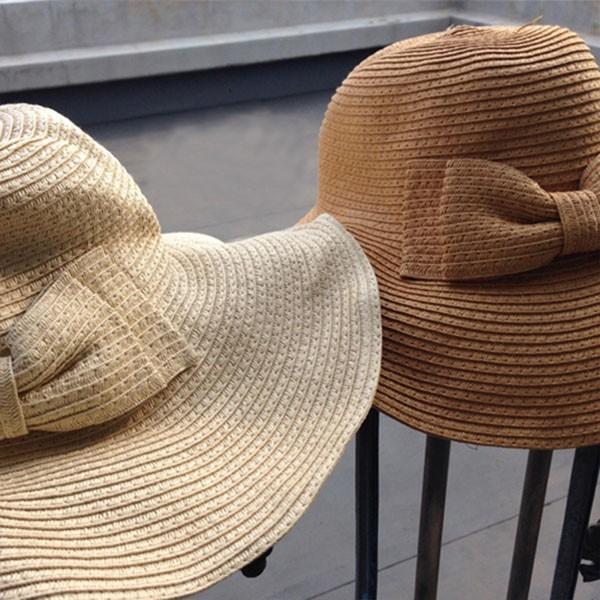 ストローハット レディース 麦わら帽子 UVカット つば広 折りたたみ 帽子 日よけ|popularshop|02