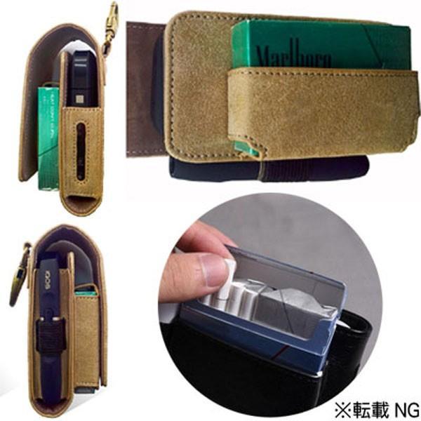アイコス ケース おしゃれ レザー iQOS メンズ レディース 軽量 電子タバコ シガレットケース カバー ベルトポーチ|popularshop|02