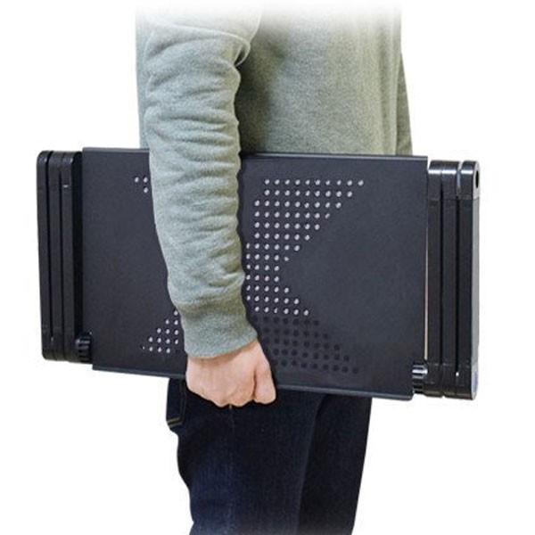 ノートパソコン スタンド アルミ 角度調整 折りたたみ PCスタンド 排熱 タブレットiPad 動画視聴 作業 コンパクト 軽量|popularshop|05