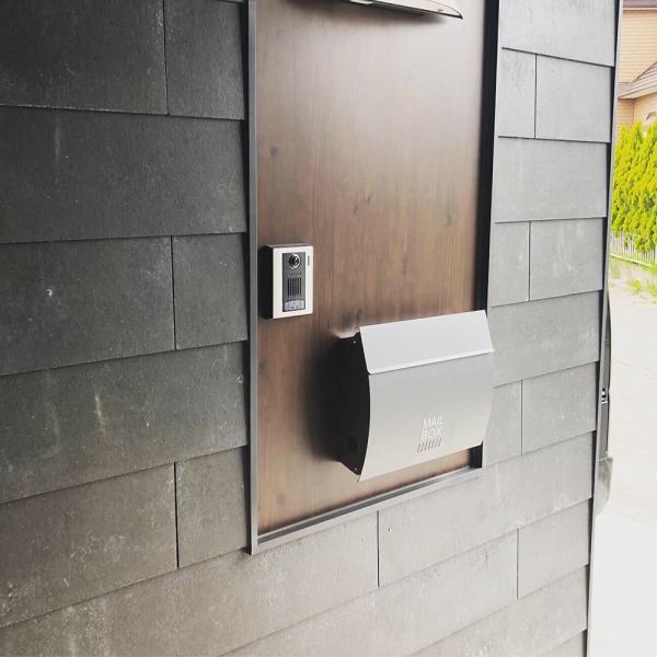 郵便ポスト おしゃれ 壁掛け 木目調 MB4801 MAILBOX表記有 鍵付き post-sign-leon 09
