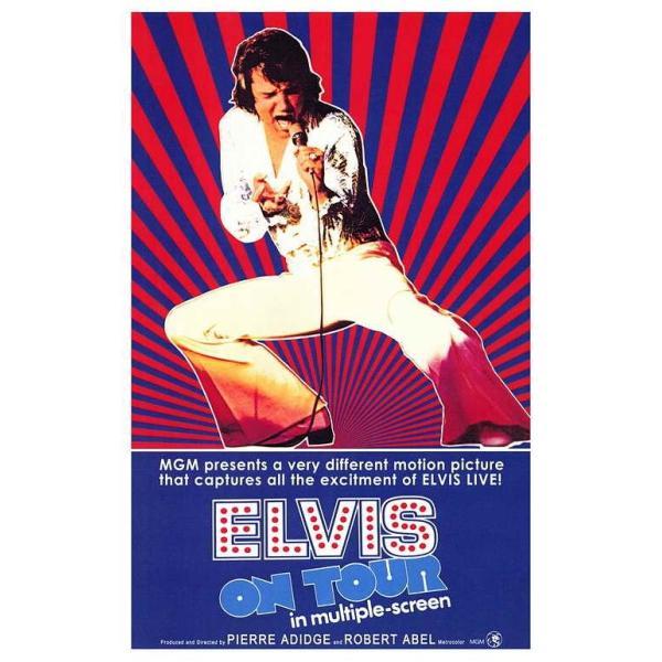 エルヴィス・プレスリーELVISONTOUR1972ポスター(シアターサイズ)/フレーム付