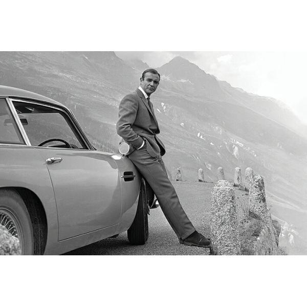 ジェームズ・ボンド ポスター ショーンコネリー アストンマーティンDB5 James Bond (Connery & Aston Martin) 200730