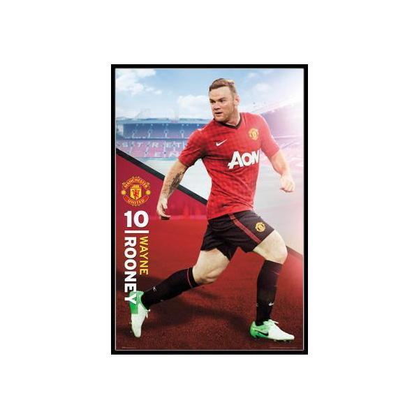 マンチェスター・ユナイテッド ウェイン・マーク・ルーニー ポスター フレームセット Manchester United Rooney(130101)
