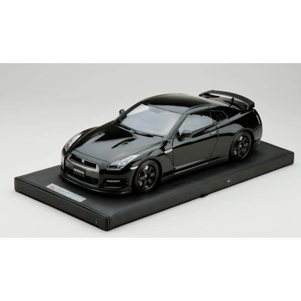 マーク 1/18 ニッサン GT-R R35 エゴイスト メテオブラックパール 完成品ミニカー PM1803BK