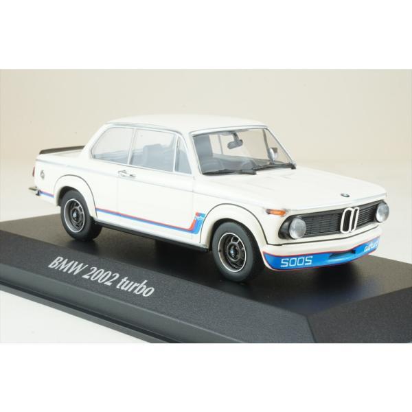 マキシチャンプス 1/43 BMW 2002 ターボ 1973 ホワイト 完成品ミニカー 940022201|posthobbyshop