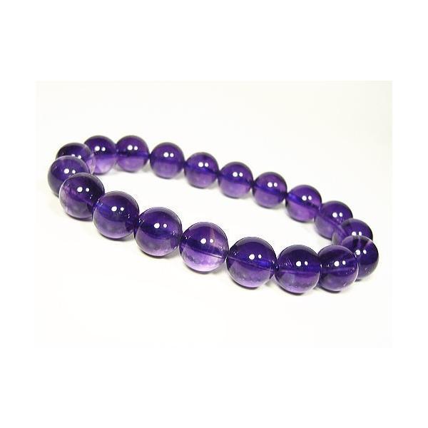 超高品質宝石アメジスト≪紫水晶≫/ブラジル産/天然石 パワーストーンブレスレット10mm/1点もの