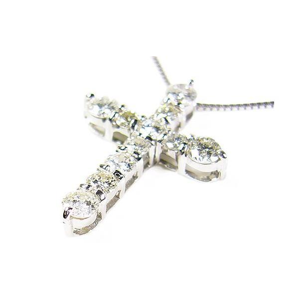 天然ダイヤモンド1ctネックレス/クロス/ホワイトゴールド/芦屋ダイヤモンド|power-house-again|02