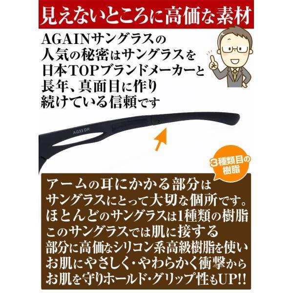 1万6,280円→75%OFF  AGAINドライビングサングラス マットブラック加工 日本TOP級ブランドDNAメーカー共同開発 ドライビングレンズ 昼・夜兼用|power-house-again|10