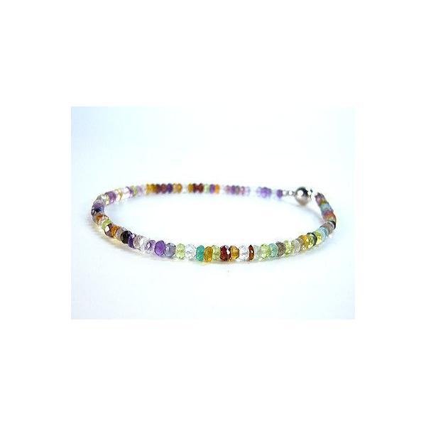 天然石&天然宝石MIXカラーストーン/ブレスレット