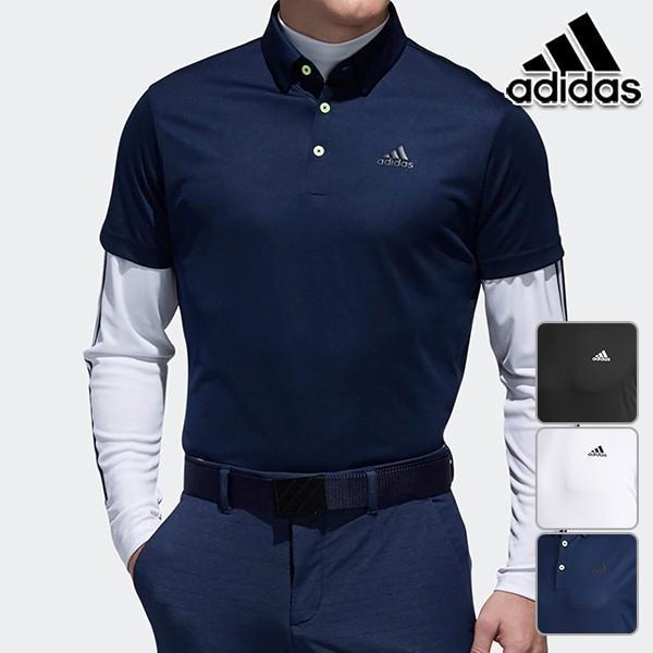 347f1bf002f280 アディダスゴルフ 2019年春夏モデル メンズ 半袖 長袖 シャツ スリーストライプス レイヤードボタン