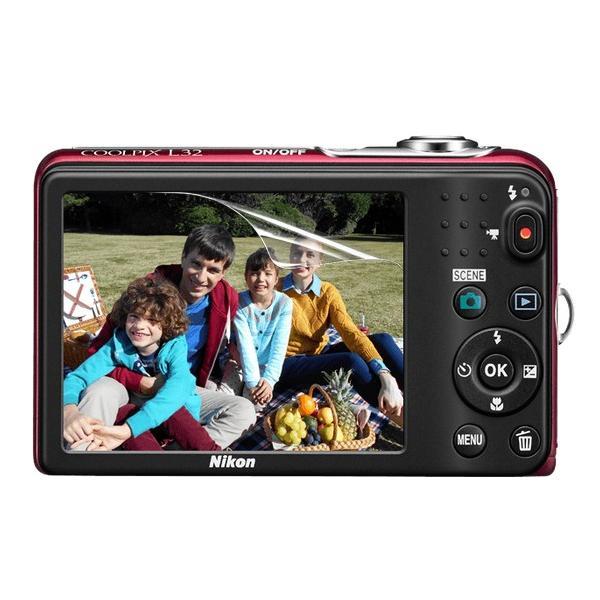 【高光沢タイプ】Nikon Coolpix L32/L30専用  指紋防止 反射防止 気泡レス加工 高光沢 カメラ液晶保護フィルム