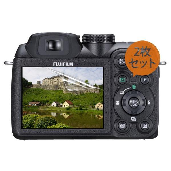 【お得2枚セット・高光沢タイプ】Fujifilm FinePix S1500専用  指紋防止 反射防止 気泡レス加工 高光沢 カメラ液晶保護フィルム