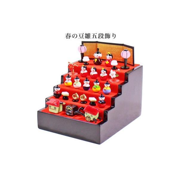 春の豆雛五段飾り|pp-koshidou