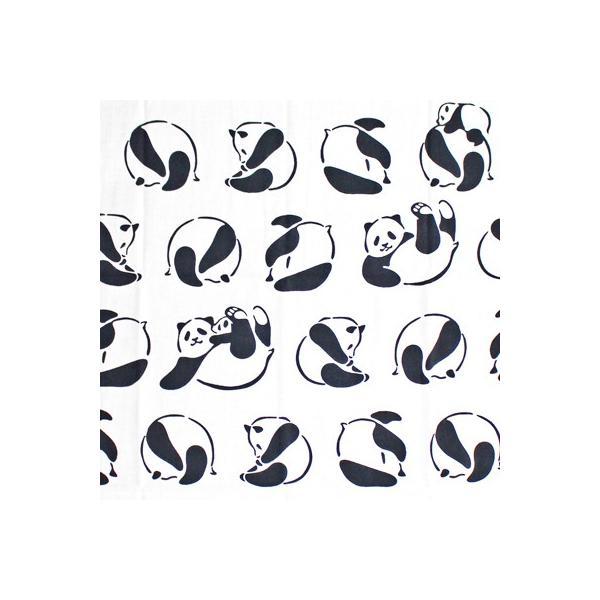 ケネマ手拭い でんぐり親子パンダ|pp-koshidou