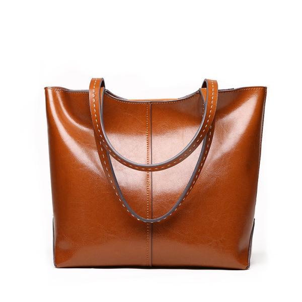 革 ハンドバッグ 新製品 ばねおよび夏 柔らかい革 大きい容積 レディース 手 肩 斜め 大きい袋