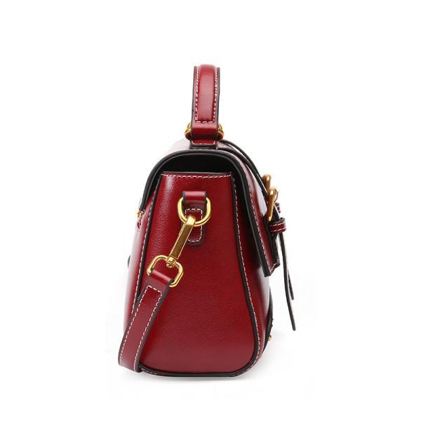 レザーレディースバッグ2018新製品スタイルレトロ革ハンドヘルドショルダーストラップスモールbledレディバッグ