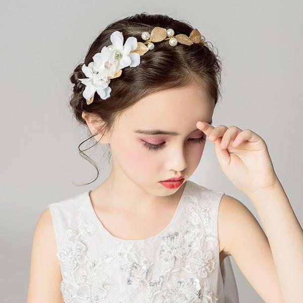 髪飾り 花 子供 発表会 子供ドレス 七五三 アクセサリー 女の子 フォーマル カチューシャ 子供ヘッドドレス 花飾り パール 結婚式 ヘアアクセサリー 花嫁 成人式